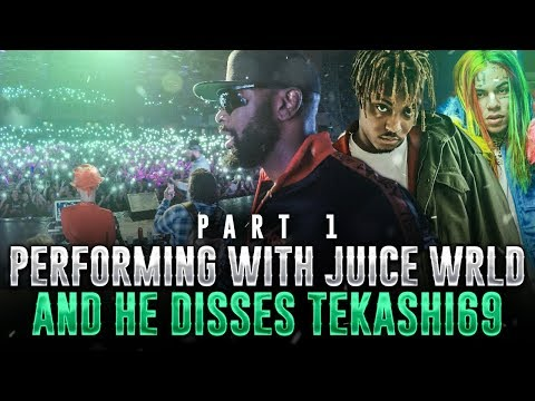 KING OF DOWNTOWN: PERFORMING WITH JUICE WRLD AND HE DISSES tekashi69 PT 1