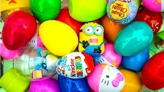 32 Surprise Eggs!!! Disney CARS Spider-Man Маша и Медведь HELLO KITTY Kinder Surprise eggs!