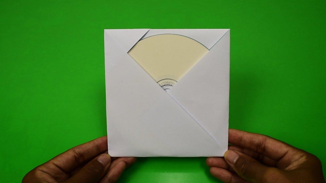 Как сделать конвертики из бумаги для дисков 115