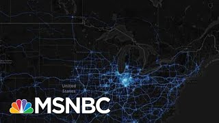 Map Shows Even 'Regular People' Can't Avoid Coronavirus Spread | Rachel Maddow | MSNBC