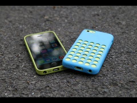 iPhone 5c vs iPhone 5s Drop Test with Apple Cases