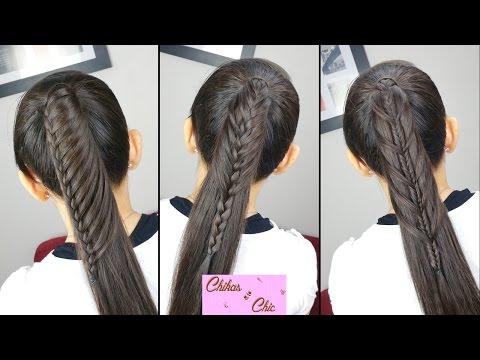 Peinados faciles y rapidos: Cola con todo el cabello (3 Opciones!!)   Chikas Chic