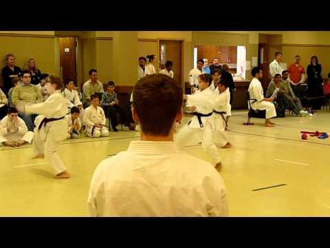 Karate junior mixed team kata bassai dai  stonewall 2012 shotokan