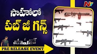 PUBG Weapons Collection At Saaho Prerelease Event || UMP9, M416