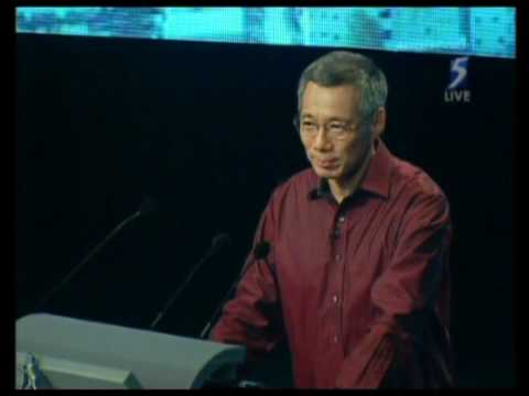 Singapore's homemade cgi and visual effects - PM Lee Hsien Loong at National Day Rally 2009