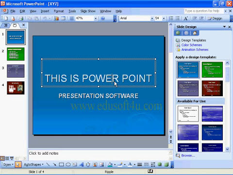MS Office 2003 in Telugu - Simple Slides Designing in PowerPoint