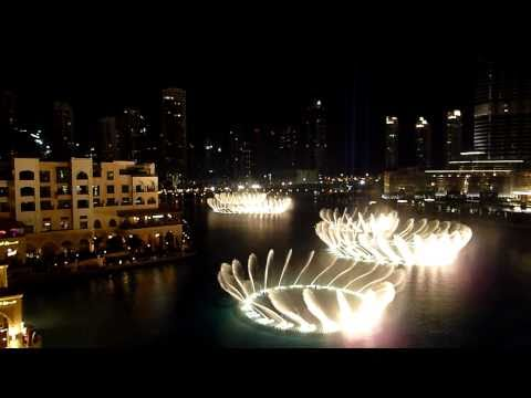 Dubai Fountain - 'enta Omri' Hd video