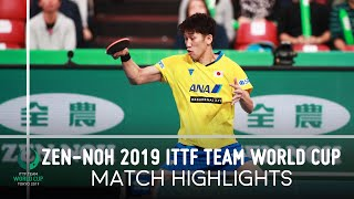 Xu Xin vs Maharu Yoshimura | ZEN-NOH 2019 Team World Cup Highlights (1/2)