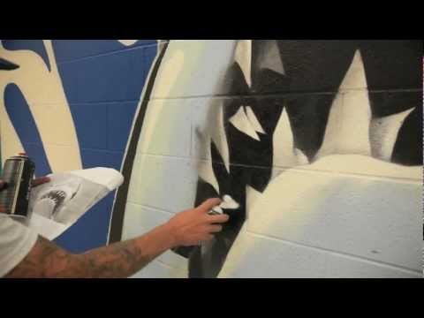 SKAM X RONS Toronto Graffiti: Swansea School Gym HD