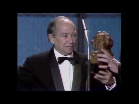 José Aguayo recibe el Premio Goya de Honor (1987)
