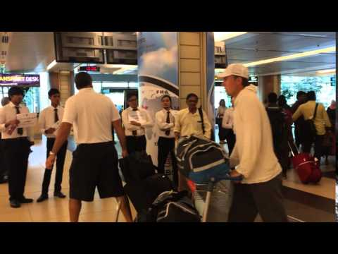 Golf: World No. 1 Jordan Spieth arrives in Singapore's Changi Airport