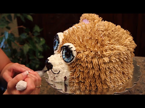 Teddy Bear Cake - How to Decorate a Teddy Bear Head Cake- Cake Decorating