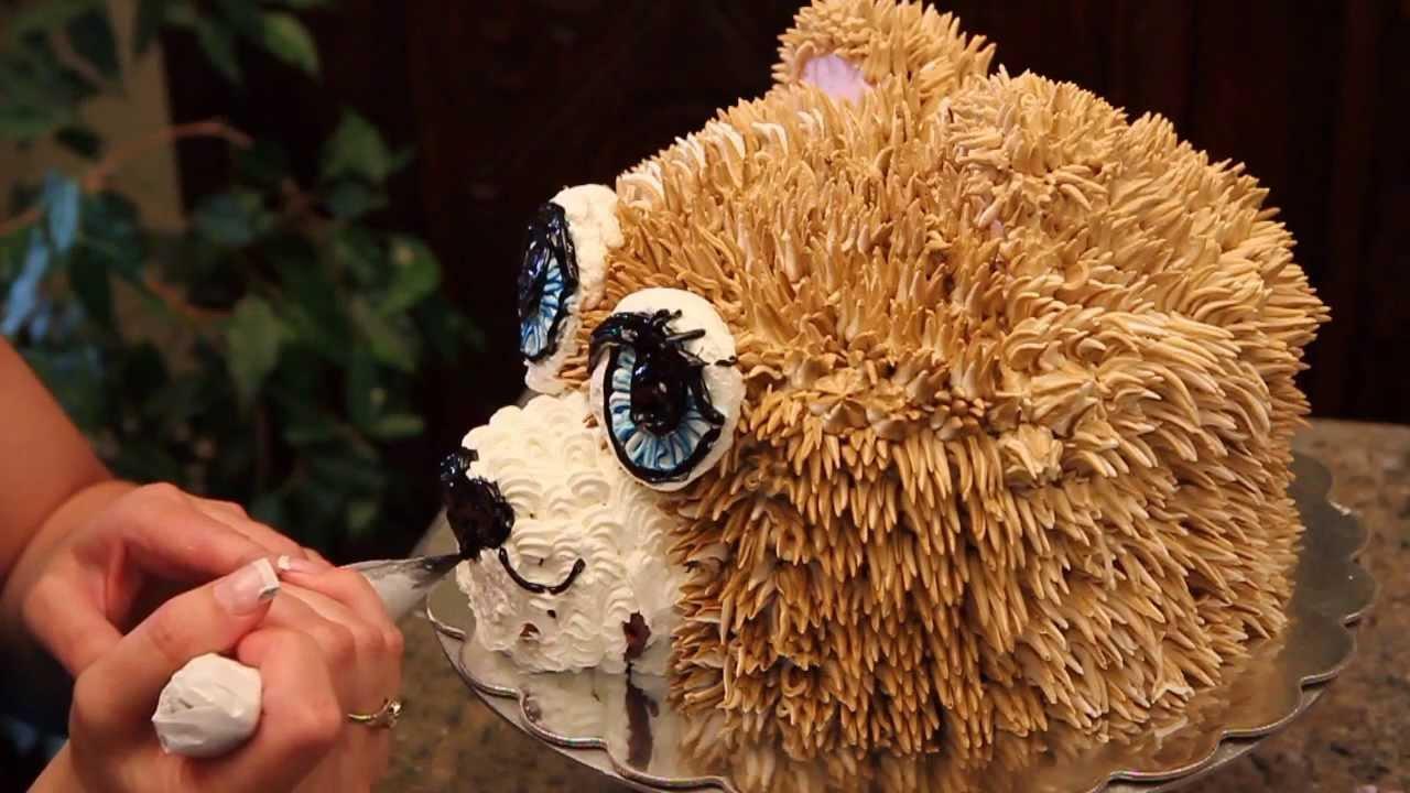 How To Make A Bear Head Cake