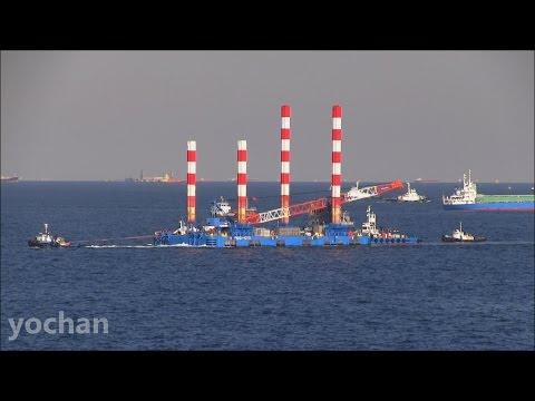 Floating Crane Barge: KG-500  ハーフセップ台船「KG-500」海洋技術建設
