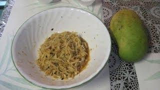 How to make kacha aam (mango) bhorta