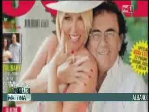 Loredana Lecciso e Albano Carrisi servizio a UNOMATTINA MAGAZINE