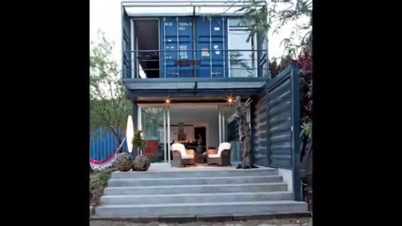 Hermosas casas hechas con contenedores youtube Casas con contenedores precios
