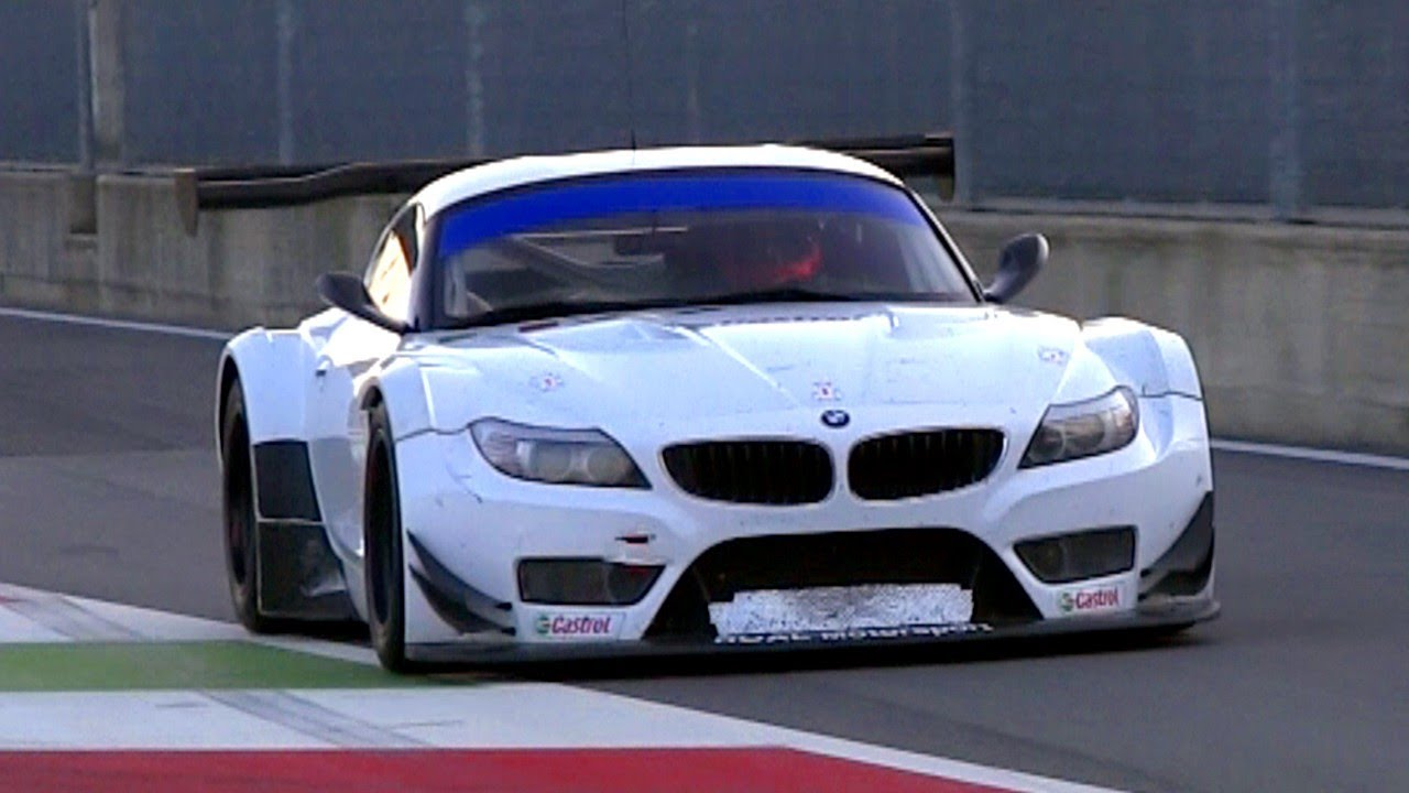 2 X Bmw Z4 Gt3 Pure V8 Engine Sound Youtube