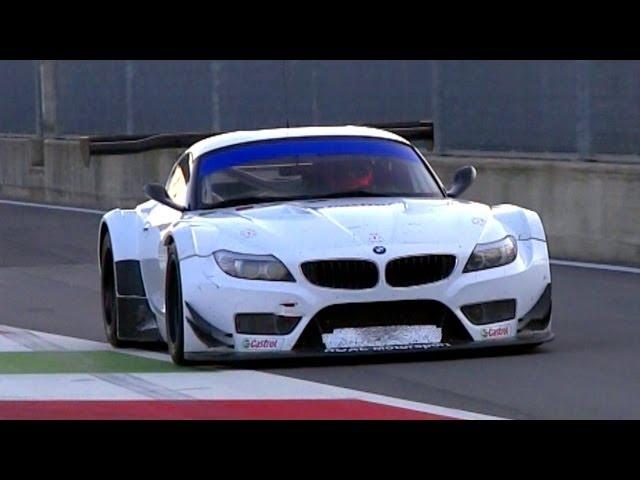 2 x BMW Z4 GT3 Pure V8 Engine Sound - YouTube