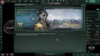 Stellaris: Random Empire 25 stars 7 empires (part 2) The first war in this small galaxy.