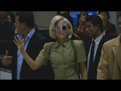 Lady Gaga in Japan: Lady Gaga lands in Japan to promote new album Artpop