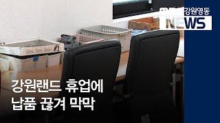 투R)강원랜드 휴업에 납품 끊겨 막막