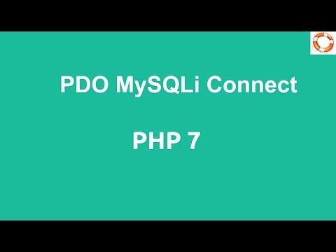 PHP 7 MySQLi Database Server Connect