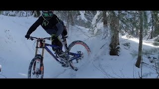 Epic Raw Downhill Mountain Biking on Snow!
