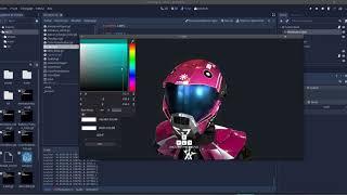 Godot Engine 3D interface gdScript demo