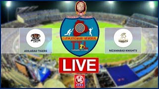 Adilabad Tigers  Vs  Nizambad Knights LIVE | G Venkataswamy Memorial Telangana T-20 League