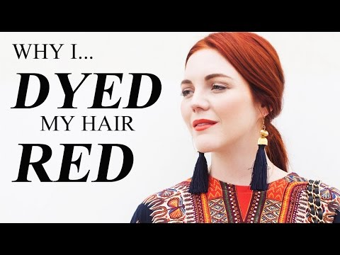 How I Got CONFIDENCE to Dye My Hair Red