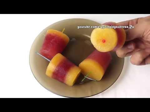 Мороженое фруктовый лед своими руками в домашних условиях (замороженный сок)