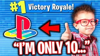 Best 10 Year Old Fortnite Console Player Carries Me On Pc