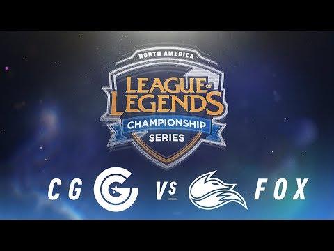 CG vs. FOX - Week 8 Day 1 | NA LCS Spring Split | Clutch Gaming vs. Echo Fox (2018)