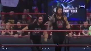 Roman Reigns saves Seth Rollins vs Kevin Owens and Chris Jericho (WWE RAW Nov 11,2016)