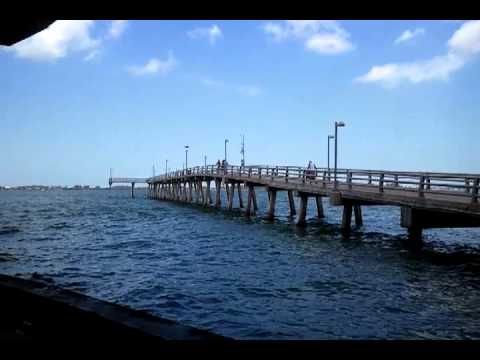 Ringling Bridge Fishing Pier. Sarasota Florida