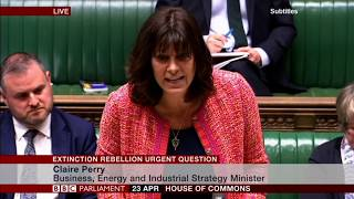 """Urgent Question, """"Declare a Climate Emergency?"""" - UK Parliament - Extinction Rebellion"""