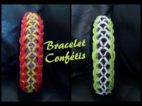 bracelet conf ttis rainbow loom tutoriel fran ais niveau d butant youtube. Black Bedroom Furniture Sets. Home Design Ideas
