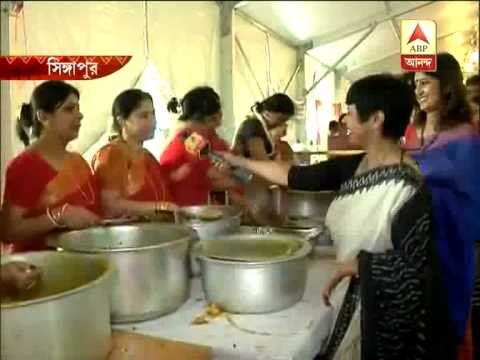 Several bengali food items at a durga puja by bengali expatriates...