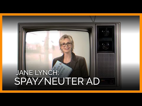 Jane Lynch Spay/Neuter Ad