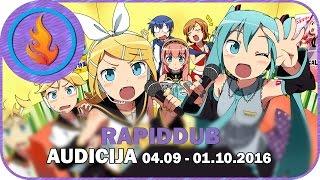 RAPIDDUB - AUDICIJA // 04.09 - 01.10.2016