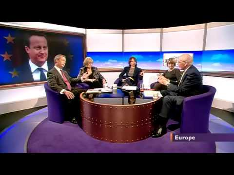 BBC Daily politics- UKIP Nigel Farage on David Cameron's looming EU speech (07Jan13)