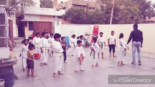 Karate practice at HAMZA sports pali