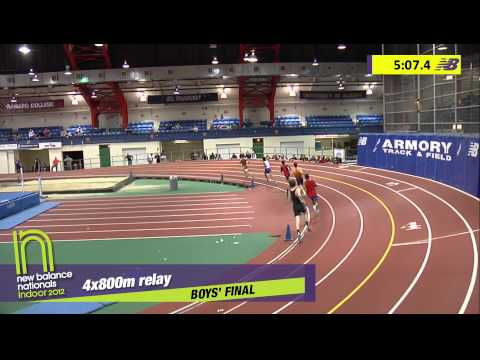 B 4x800 H02 (Boys & Girls TC-Ny 7:41.10 *Armory Record, HS Indoor Nationals 2012)