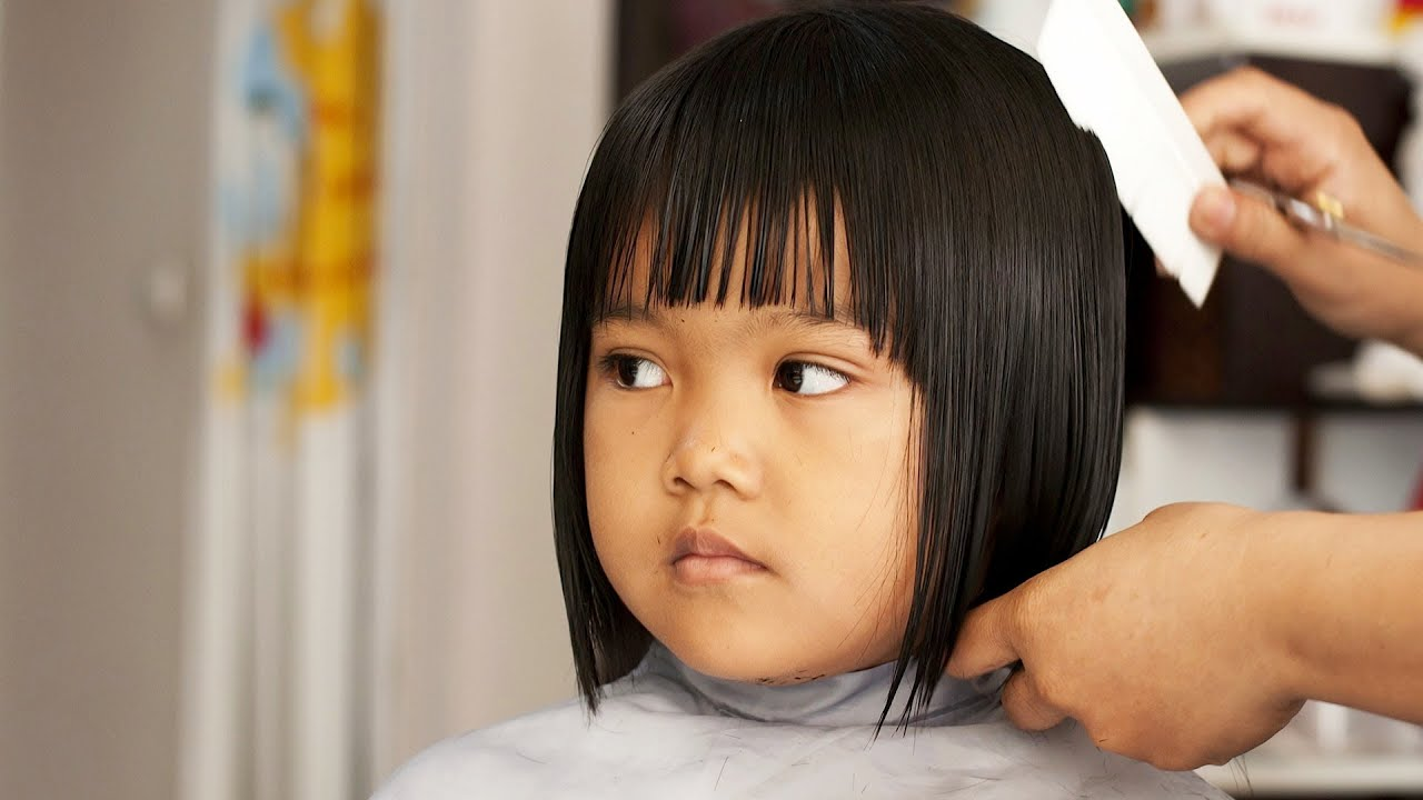 Haircuts for little girls with straight hair