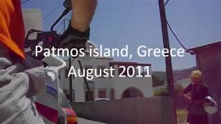 Patmos GR a ride to Livadi Geranou beach.wmv