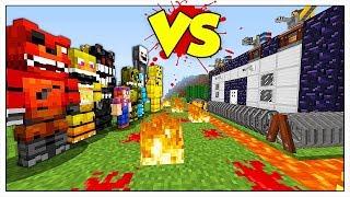 APOCALISSE DI ANIMATRONICS CONTRO LA BASE FORTEZZA! - Minecraft ITA