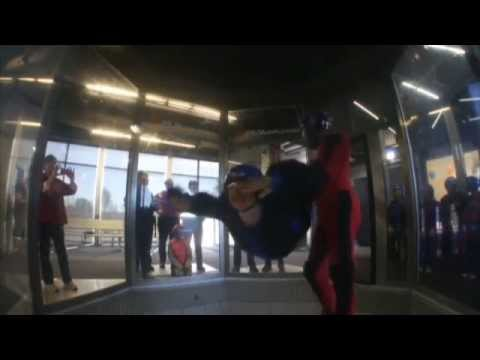 Pentecost message: Marcia flying at iFly