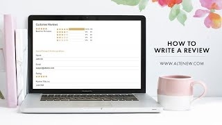 Altenew How to Write a Product Review
