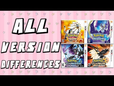 Pokemon Version Differences - Sun & Moon vs Ultra Sun & Ultra Moon